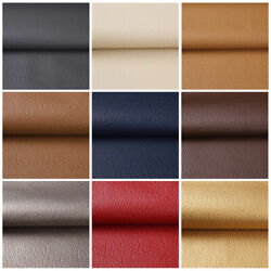 Kyпить 1/3/5 Yards Faux Leather Fabric Upholstery Pleather Marine Vinyl Fabric 54