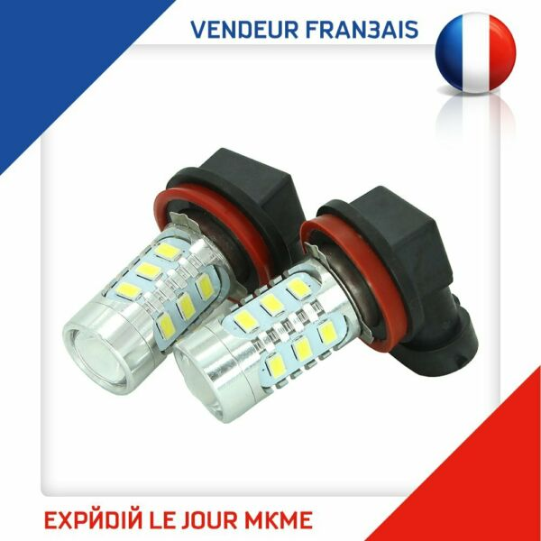 Paris,France2 Ampoule H8/H9/H11 16W LED Projecteur  Conduit Lampe Blanc