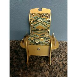 Kyпить Vintage Sewing pin Cushion Rocking Chair With Drawer metal на еВаy.соm
