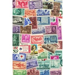 Kyпить LOT OF 50 VINTAGE ALL DIFFERENT MINT U.S. POSTAGE STAMPS--ALL MINT NEVER HINGED на еВаy.соm