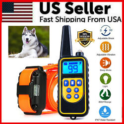 Kyпить 2600 FT Remote Dog Shock Training Collar Rechargeable Waterproof LCD Pet Trainer на еВаy.соm