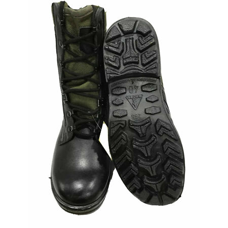 img-Genuine German Army Black/Green Jungle Lightweight Combat Boots Many Sizes