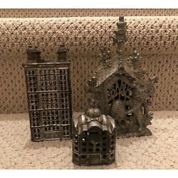 Kyпить VINTAGE CAST METAL IRON BANKS  LOT of 3 на еВаy.соm