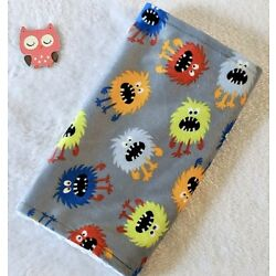Kyпить Handcrafted, Monster Minky Print & White Minky Bubble, Baby Burp Cloth  на еВаy.соm