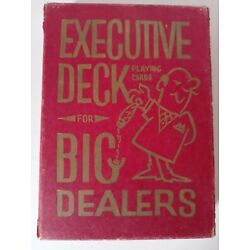 """Kyпить  EXECUTIVE DECK for BIG DEALERS JUMBO GIANT PLAYING CARDS 5""""x7"""" in CASE на еВаy.соm"""