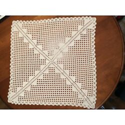 Kyпить Hand Crochet Cream Table Topper 28