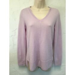 Lusso XS Lavender 100% Cashmere Tunic Sweater Exposed Seams NEW