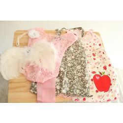Kyпить Lot Newborn Baby Girl Clothes Photographer Set Pink Lace Angel Wings Headband на еВаy.соm