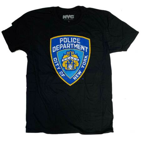 img-NYPD T Shirt - Police Crest 100% Official