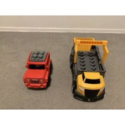 Kyпить Mega Bloks Red Jeep Offroad & Dump Truck (Rare Collection) на еВаy.соm