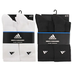 Kyпить Adidas Everyday Athletic Cushioned Crew Socks (6 Pairs) | Size 8-12 на еВаy.соm