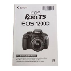Kyпить CANON EOS REBEL T5 1200D DIGITAL SLR CAMERA OWNERS INSTRUCTION MANUAL -DSLR на еВаy.соm