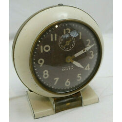 Kyпить Vintage WestClox Baby Ben Cream Alarm Clock Cream Numbers Made In USA Works на еВаy.соm