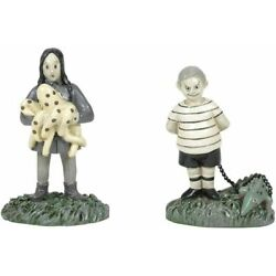Dept 56 Hot Properties Addams Family THE KIDS WITH THEIR PETS 6005627 NEW IN BOX