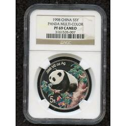 Kyпить *1998 CHINA S5Y PANDA COLORIZED PF 69 CAMEO BEAUTIFUL COIN PLEASE LQQK!!* на еВаy.соm