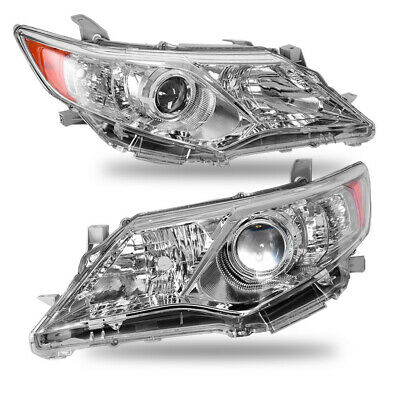 For 2012-2014 Toyota Camry Clear Projector Headlights Head Lamps Left+Right Pair