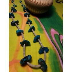 Kyпить Turquoise Nugget Heishe Shell Necklace Southwest на еВаy.соm