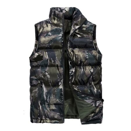 img-New Winter Men Thick Warm Waistcoat Vest Padded Cotton Quilted Sleeveless Jacket