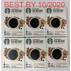 Kyпить STARBUCKS VIA COLOMBIA Instant Medium Roast Coffee 78 ct Best By October 2020 на еВаy.соm
