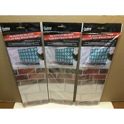 Foil Backsplash Wall Sticker by Cooking Concepts. Brick Patern. New. Lot of 3