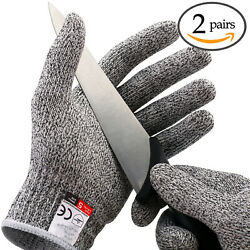 X-Large 2Pairs Cut Proof Stab Resistant Safety Gloves Butcher Gloves