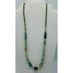 Kyпить EXCAVATED ANCIENT GLASS ! ! !   ROMAN GLASS FRAGMENT BEAD NECKLACE MUST SEE/READ на еВаy.соm