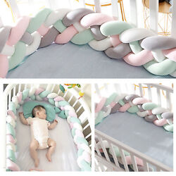 Kyпить Baby Crib Bumper Thicken Pad Breathable Soft Cotton Nursery Toddler Bed Protect  на еВаy.соm