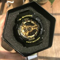 Kyпить NEW G-Shock GA110GB-1A Men's Watch Black Gold Dial Resin Chronograph Watch на еВаy.соm