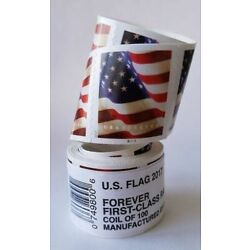 Kyпить 100 USPS Forever Flag Stamps Coil Roll - Free Same Day Shipping на еВаy.соm