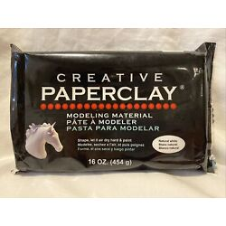 Creative Paperclay Modeling Material 16oz Natural White