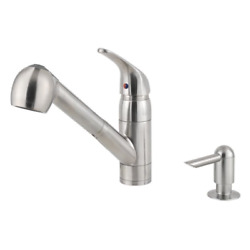 Kyпить Classic 1-Handle Pull-Out Kitchen Faucet With Soap Dispenser Model: F-WKP-533S на еВаy.соm