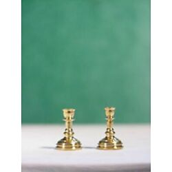 Dollhouse Miniature 1:24 Scale Brass Candlesticks by Clare-Bell Brass