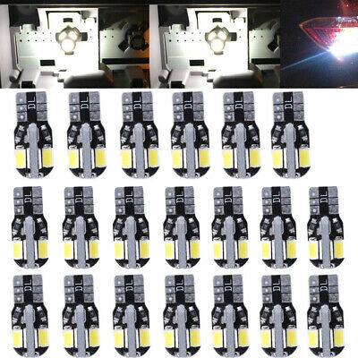 20* Canbus T10 194 168 W5W 5730 8 LED SMD White Car Side Wedge Light Bulb NEW