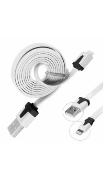 Manchester,United Kingdom3M FLAT NOODLE CABLE CHARGER  CABLE FOR APPLE iPHONE 5 6 7 8 10 XR XS MAS 11