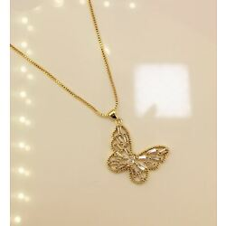 Kyпить 18k Gold Plated Butterfly Necklace на еВаy.соm