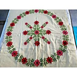 Kyпить Hand Embroidered Floral Tablecloth на еВаy.соm
