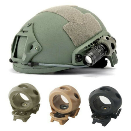 img-Helmet Flashlight Clamp PA Outdoor Tactical Quick Release for Fast Helmet Mount