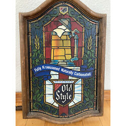 Kyпить Vintage Old Style Beer Lighted Sign Faux Stained Glass Vintage Heilemans Mug  на еВаy.соm