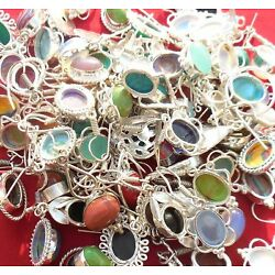 Kyпить Calsilica & Mix Earrings 100 Pair 925 Sterling Silver Plated Earring EE-245 на еВаy.соm