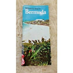 Kyпить VINTAGE 1973 WHERE TO STAY IN BERMUDA BOOKLET BROCHURE на еВаy.соm