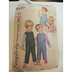 Kyпить Vintage Simplicity Pattern # 6157 Toddler Size 1/2 overalls and shirt cut на еВаy.соm