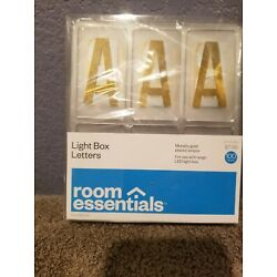 Decorative Word Gold - Room Essentials  2 1/2''H light box numbers and symbols