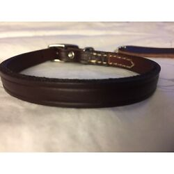 New Circle T Coastal Pet Products Premium Brown Leather Dog Collar 12'' Small