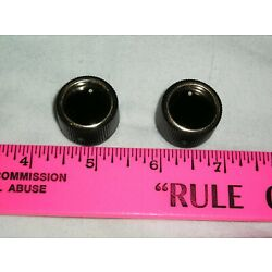 Kyпить 2 Black Plastic Knobs with Gold Ring - For 1/4 inch shaft or half Shaft на еВаy.соm
