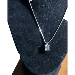 Kyпить EXPRESS CZ Pendant Necklace Silver на еВаy.соm