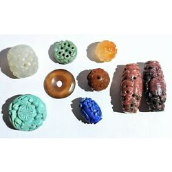 Kyпить Lot Of Chinese Beads- Carved Stone на еВаy.соm