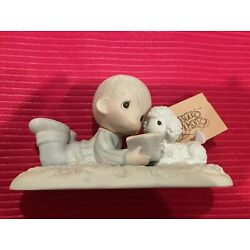 Precious Moments-Boy Reading  Book To Lamb-I Love To Tell The Story-Limited Ed.!