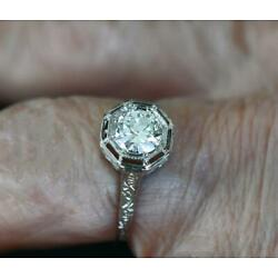 Kyпить Deco 18 Kt WG VS 1 Diamond Filagree Hand Tooled Ring~ .75 Ct~Size 6.5~ на еВаy.соm