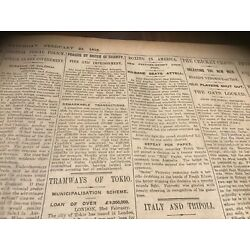 Kyпить Antique Newspaper 24/2 1912 Johnny Kilbane Boxing  Defeats Abe Attell на еВаy.соm