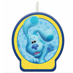 BLUES CLUES  Happy Birthday Party cupcake CAKE wax CANDLE decoration 1 molded pc